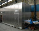 Cooling tunnels and containers